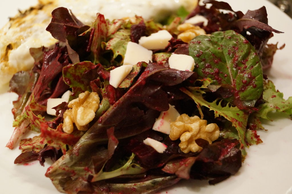 winter salad recipe beets goat cheese