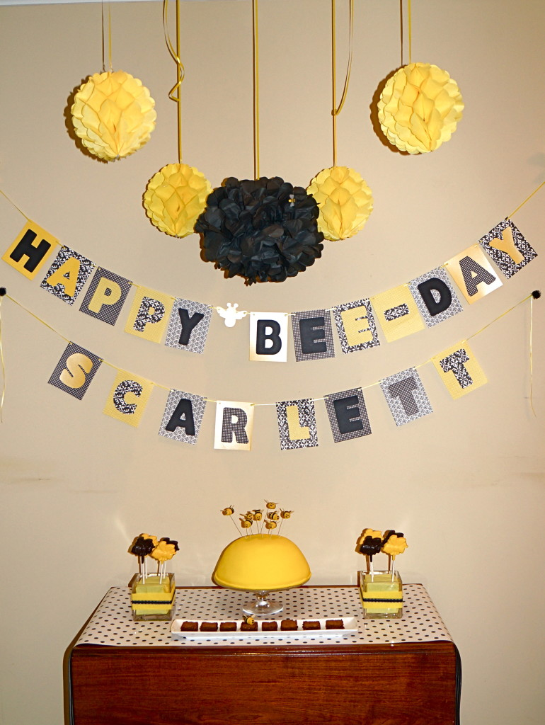Kids Birthday Party Bee Day Bumble Theme Modern