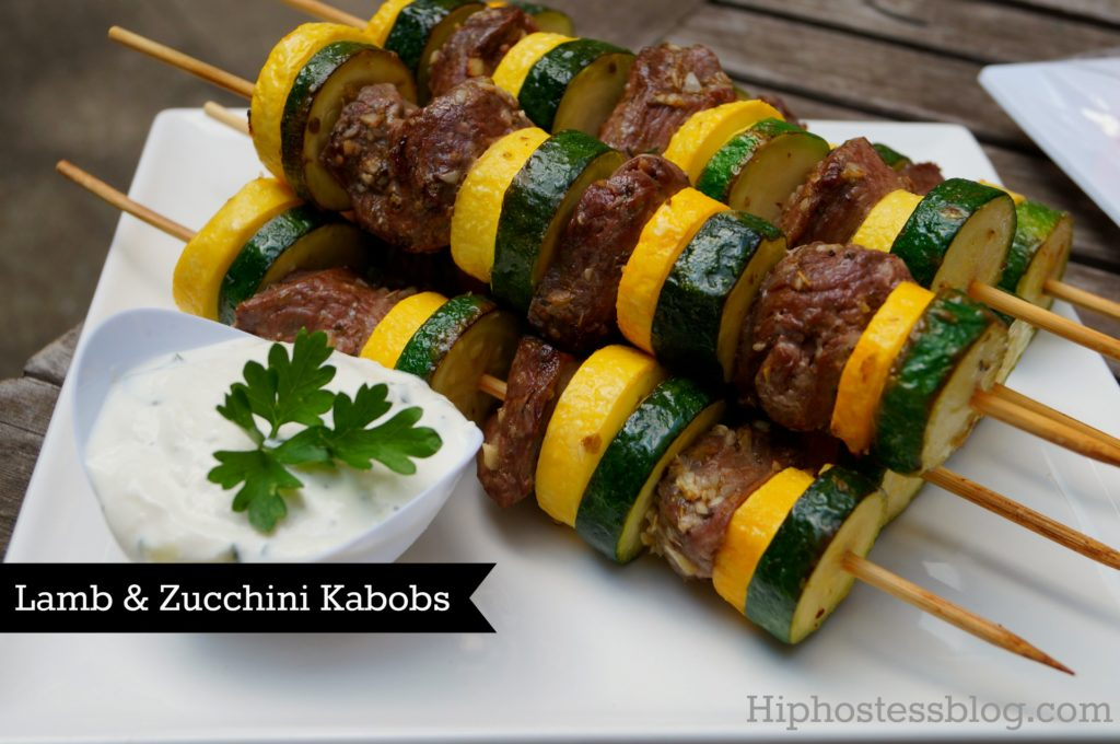 Lamb and Zucchini Kabobs - great recipe for a Middle Eastern menu.  Serve as an appetizer or make it a meal with a side of quinoa or cous cous and grilled flat bread.  Stylish Spoon
